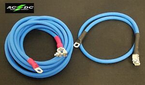 Battery Relocation Kit 2 Awg Welding Cable Top Post 12 Blue 3 Blue Sae