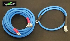 Battery Relocation Kit 2 Awg Hd Welding Cable Top Post 15 Blue 3 Blue