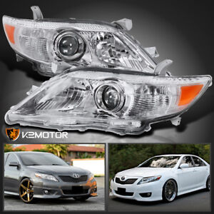 For 2010 2011 Toyota Camry Crystal Projector Headlights Left Right Replacement