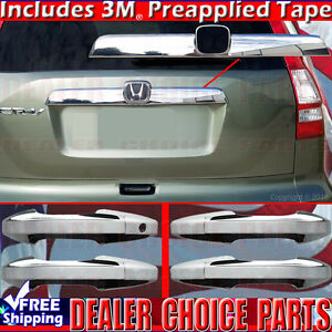 2007 2008 2009 2010 2011 Honda Crv Cr v Chrome Door Handle Covers tailgate Top