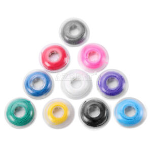 10 Rolls Dental Orthodontic Elastic Power Chain Short Size Colorful 15 Feets