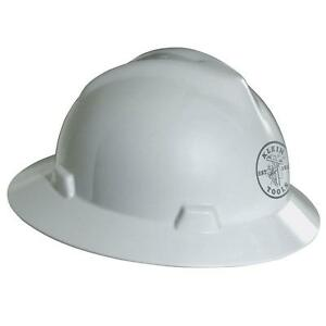White Hard Hat Construction Electrician Head Protection Safety Protective Gear