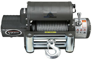 Viper Winch 12000lb Steel Cable Wireless Remote Integrated Contactor
