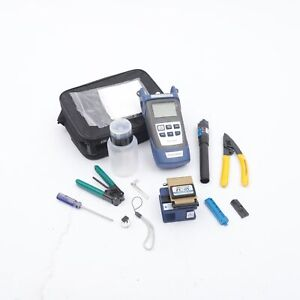 Ftth Fiber Optic Tool Kit Fiber Cleaver Fc 6s Power Meter Visual Fault Locator
