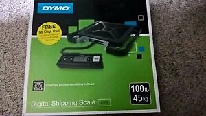 Dymo S100 Portable Digital Usb Shipping Scale 100lb Capacity W cabling
