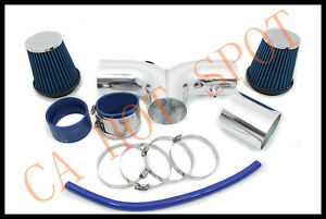 04 07 Dodge Durango 5 7l Hemi V8 Twin Dual Air Intake System W Filter Blue