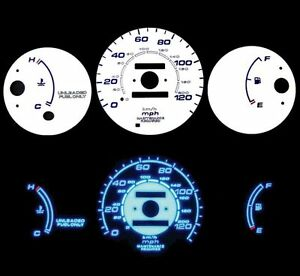 96 00 Civic Mt W O Tach Blue Indiglo Glow White Gauges 96 97 98 99 00
