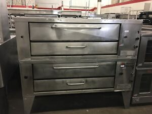 Middleby Marshall Xl100 Double stack Gas Deck Oven Refurbished