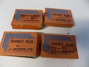 Lot Of4 Boxes Vintage Letterpress Printers Type Handy Box
