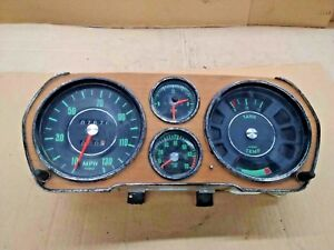 Audi Ls Vdo Instrument Cluster Gauges Wood Grain Oem Vintage 1972