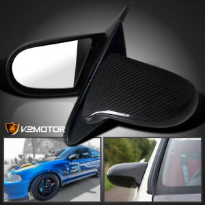 For 92 95 Honda Civic Eg Jdm Real Carbon Fiber Jdm Spn Side Mirrors Manual