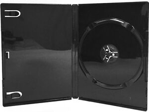 100 New Single Black Dvd Cd Cases Glossy Standard 14mm Professional Use Sv