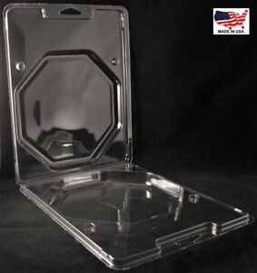 Clear Plastic Clamshell Packaging Containers 8 7 8 h X 7 w X 1 1 4 d box Of 102