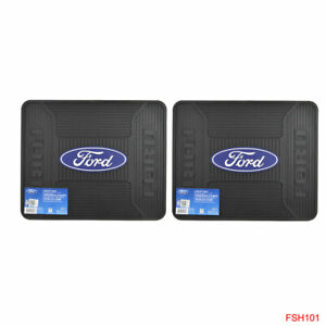New 2pc Set Ford Mustang Back Rear Utility Heavy Duty Rubber Floor Mats