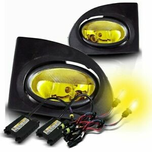 For 02 05 Civic Si Ep3 Usa Yellow Fog Driving Lights Switch 3000k Yellow Hid Kit