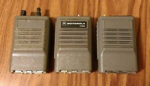 Lot Of 3 Motorola Genesis Ht600 Two way Portable Walkie talkie Radio Vhf Or Uhf