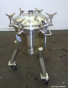 Used Precision Stainless Pressure Tank 60 Liters 15 8 Gallons 316l Stainles