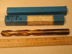George Whalley Chipbreaker 43 64 Oil Hole Drill Bit 688 Tin Hss 2 flute 7 1 2