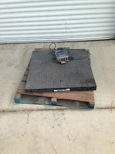 Mettler Toledo Vertex Floor Scale 36 x36 With Panther Plus Digital Readout