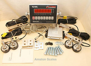 30000 Lb Load Cell Scale Kit Tank Livestock Cattle Chute Floor Truck Digital