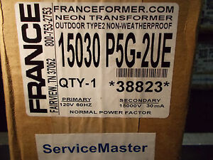 France Electric Sign Repair Parts 15030 P5g 2ue Outdoor Type 2 Neon Transformer