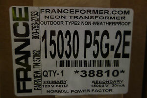 France Electric Sign Repair Parts 15030 P5g 2e Outdoor Type 2 Neon Transformer