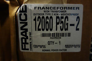 France Electric Sign Repair Parts 12060 P5g 2 Outdoor Type 2 Neon Transformer