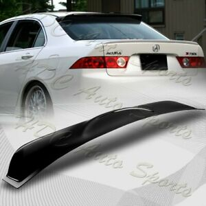 For 2004 2008 Acura Tsx Black Abs Plastic Rear Window Roof Visor Spoiler Wing