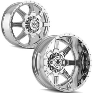 Set Of 6 Mayhem 8101 Monstir Dually 20 8x210 Chrome Wheels Rims Lugs Included