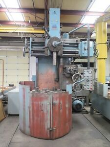 Defum 55 Vertical Boring Turret Lathe 4 Jaw Chuck Vtl Turning Bullard Summit