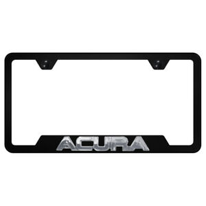 Chrome Acura Name 3d On Black Cut out License Plate Frame Officially Licensed