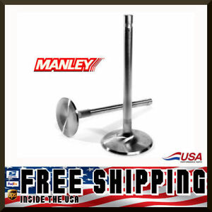 Manley Sbc Chevy 1 600 Stainless Race Flo Exhaust Valves 5 165 X 3415 11555 8
