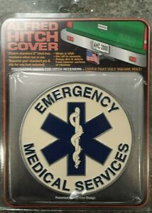 Hitch Cover Emergency Medical Service Trailor Hitch Covers 2 Receiver Ems Emt