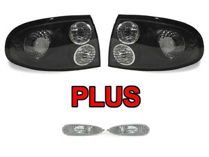Depo Black Clear Tail Lamps Clear Side Marker Lights For 04 05 06 Pontiac Gto