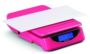 Brecknell Ps25 Electronic Portable Postal Parcel Scale 25 Lb X 0 2 Oz 2 Pink