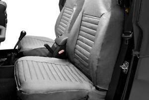 For Jeep Wrangler 1987 1991 Bestop 29227 09 1st Row Charcoal gray Seat Covers