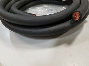 15 Ft 1 0 Awg Welding battery Cable Black 600v Made In Usa Copper Epdm Jacket