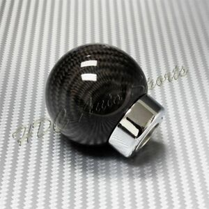 Real Carbon Fiber Ball Manual Transmission Gear Shift Shifter Knob Universal 3
