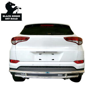 Black Horse 13 17 Acura Rdx Rear Bumper Protector Guard Double Layer Stainless