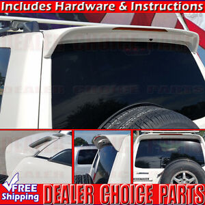 2001 2006 Mitsubishi Montero Factory Style Spoiler W led Rear Roof Wing Primer