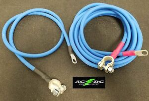 Battery Relocation Kit 4 Awg Hd Welding Cable Top Post 16 Blue 4 Blue