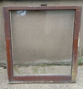 Vintage Wood Window Frame Lower Sash Single Pane Glass 28 25 W In 30 125 H In