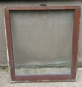 Vintage Wood Window Frame Lower Sash Single Pane Glass 28 125 W In 30 375 H In