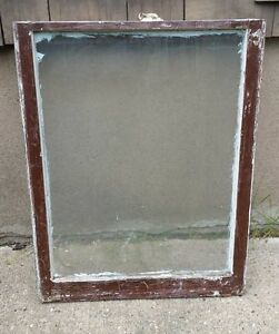 Vintage Wood Window Frame Lower Sash Single Pane Glass 28 5 W In 36 H In