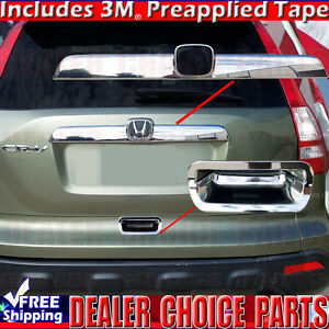 2007 2008 2009 2010 2011 Honda Crv Cr v Chrome Tailgate Handle Covers Top Bottom