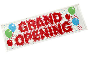2x6 Ft Grand Opening Banner Sign Store Sale Retail Polyester Fabric Wb