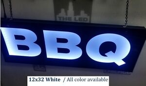 Bbq Sign led Light Box Sign12 x32 x1 75