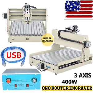 Usb 3 Axis Cnc Router 3040 Engraver Milling Drill Engraving Cutter Machine 400w