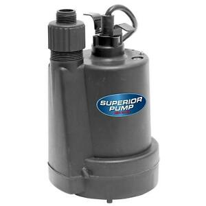 Submersible Thermoplastic Utility Pump Water Sump 1 4 Hp Flooding Drain Pool New