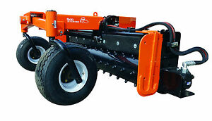 72 Hyd Angle Soil Conditioner Power Rake Skid Steer Loader Bobcat Attachment